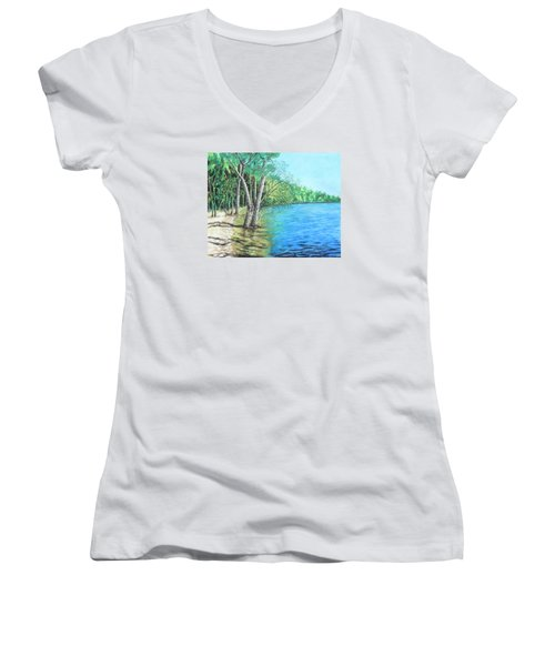 Lakeland 2 Women's V-Neck T-Shirt