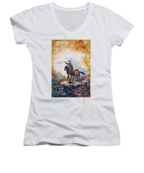 Lassoing Women's V-Neck T-Shirt