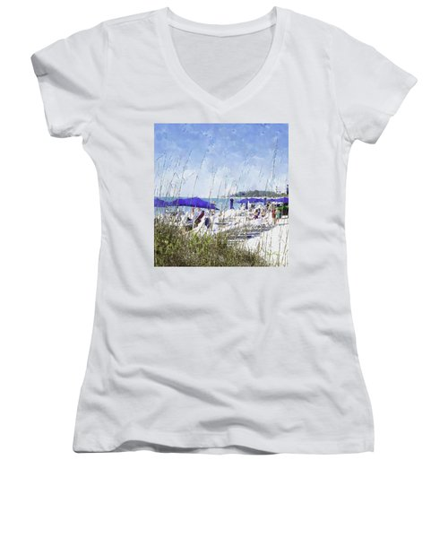 Late Winter Early Spring When Everybody Goes To Florida Women's V-Neck (Athletic Fit)