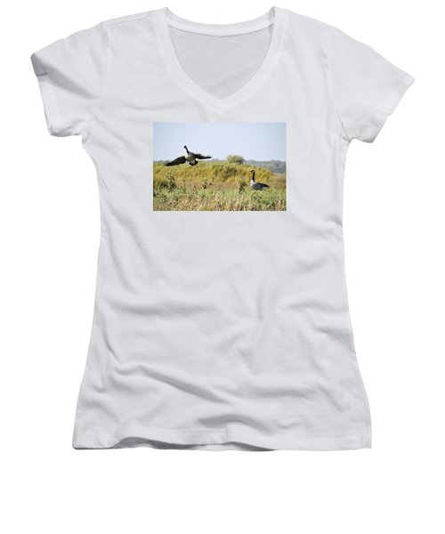 Left Behind Women's V-Neck T-Shirt