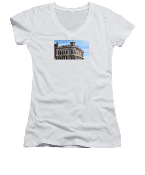 Left In Time Women's V-Neck T-Shirt