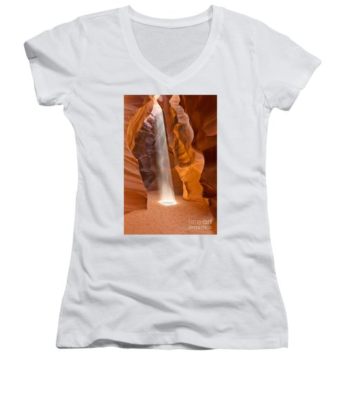Women's V-Neck T-Shirt (Junior Cut) featuring the photograph Let The Light Shine by Bryan Keil