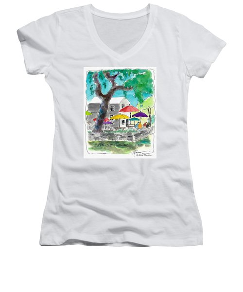 Let's Eat Outside Women's V-Neck (Athletic Fit)