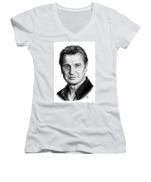 Liam Neeson Women's V-Neck (Athletic Fit)