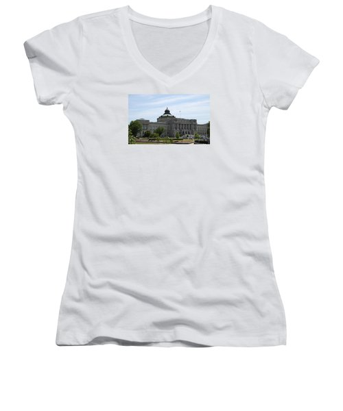 Library Of Congress  Women's V-Neck T-Shirt (Junior Cut) by Christiane Schulze Art And Photography