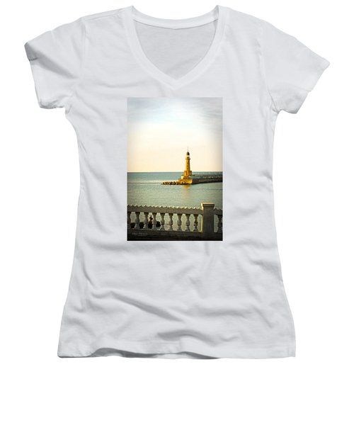 Lighthouse - Alexandria Egypt Women's V-Neck T-Shirt