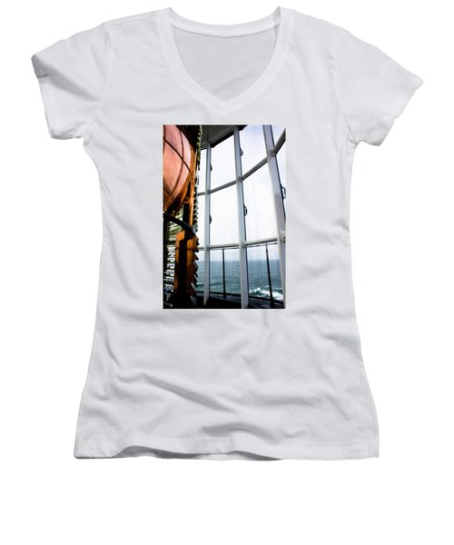 Lighthouse Lens Women's V-Neck (Athletic Fit)