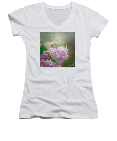 Lilac Dreaming  Women's V-Neck T-Shirt (Junior Cut) by Kerri Farley