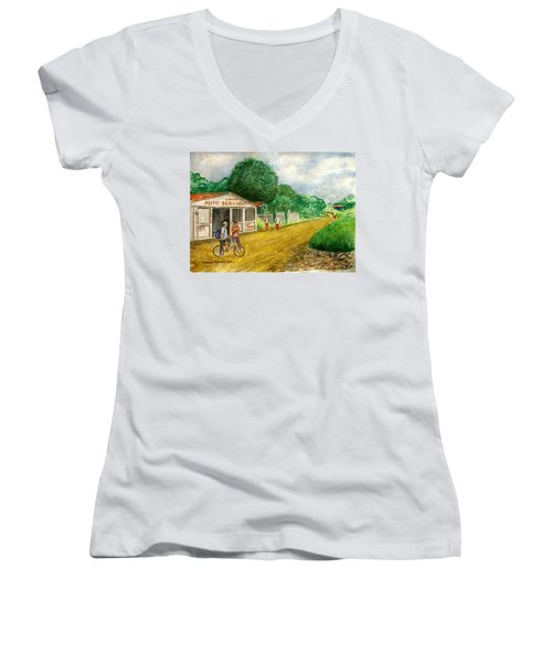 Limon Costa Rica Women's V-Neck