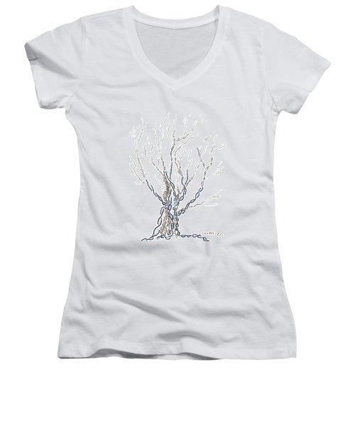 Little Dna Tree Women's V-Neck