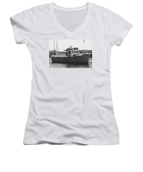 Lobster Boat Women's V-Neck (Athletic Fit)
