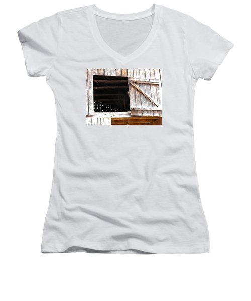 Women's V-Neck T-Shirt (Junior Cut) featuring the photograph Lofty Hieghts by Nick Kirby