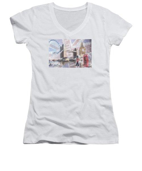 London Blue Women's V-Neck T-Shirt