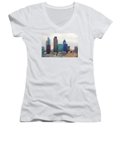 London Skyline Women's V-Neck T-Shirt