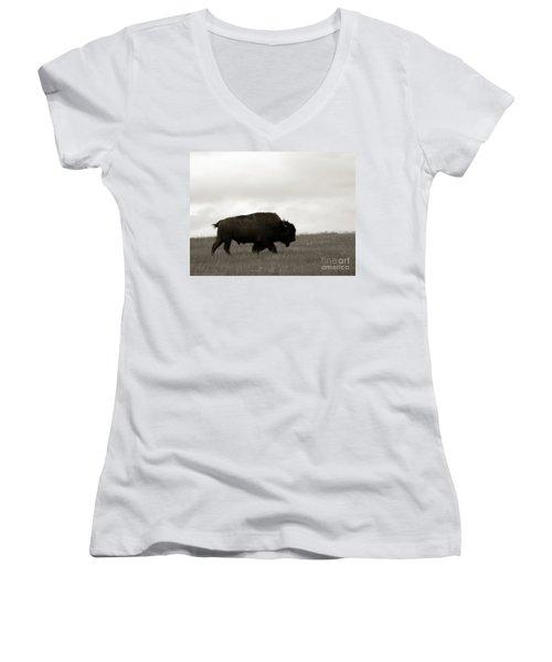 Lone Bison Women's V-Neck