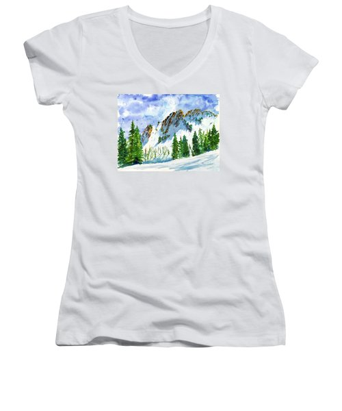 Lone Tree In The Afternoon Women's V-Neck