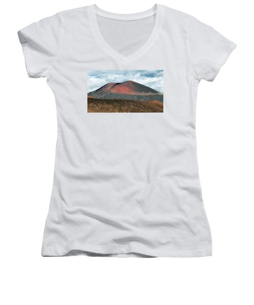 Women's V-Neck T-Shirt (Junior Cut) featuring the photograph Looking Down by Jim Thompson