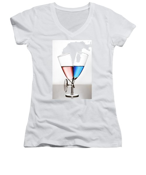 Women's V-Neck T-Shirt (Junior Cut) featuring the photograph Love by Gert Lavsen