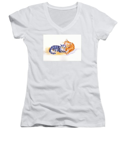 Love Is A Touch Women's V-Neck (Athletic Fit)