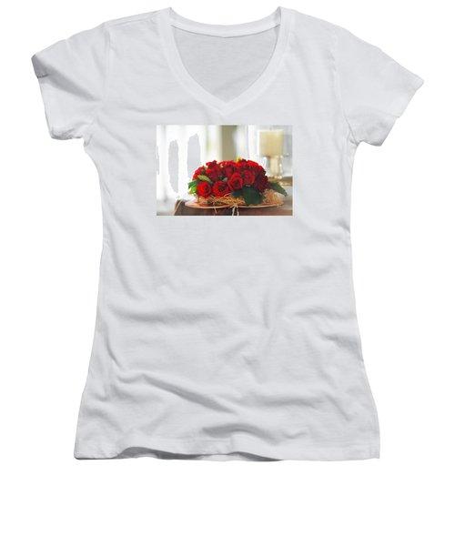 Love Message Women's V-Neck T-Shirt