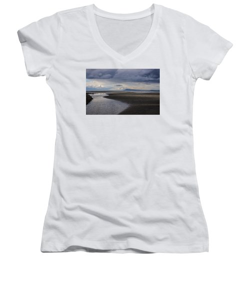 Women's V-Neck featuring the photograph Tidal Design by Roxy Hurtubise