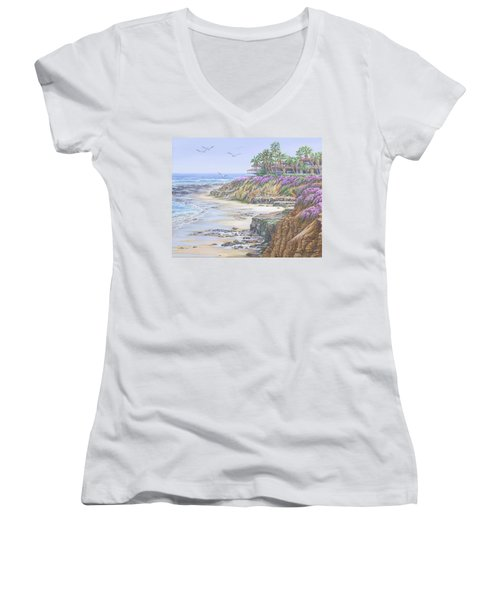 Low Tide Solana Beach Women's V-Neck T-Shirt