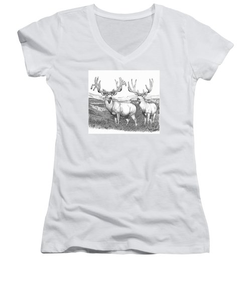 Lowe Buck Women's V-Neck (Athletic Fit)