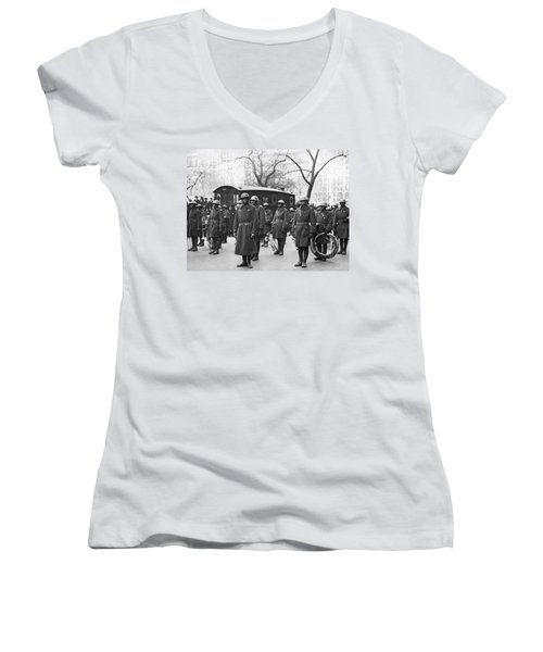 Lt. James Reese Europe's Band Women's V-Neck T-Shirt (Junior Cut) by Underwood Archives