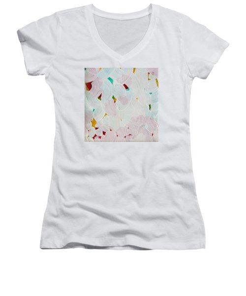 Lucent Entanglement C2013 Women's V-Neck T-Shirt (Junior Cut) by Paul Ashby