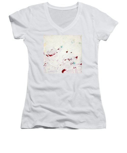 Women's V-Neck T-Shirt (Junior Cut) featuring the painting Luminous  C2013 by Paul Ashby