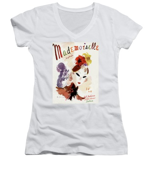 Mademoiselle Cover Featuring A Woman Women's V-Neck