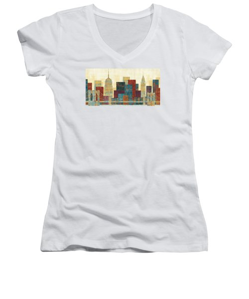 Majestic City Women's V-Neck T-Shirt