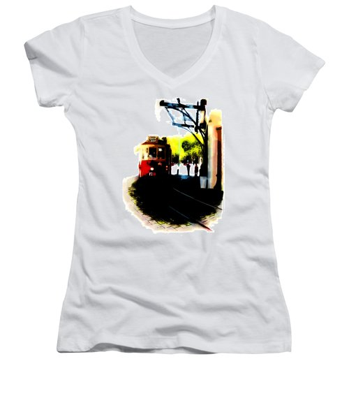 Make Way For The Tram  Women's V-Neck T-Shirt