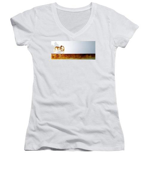 Lioness - Original Artwork Women's V-Neck T-Shirt