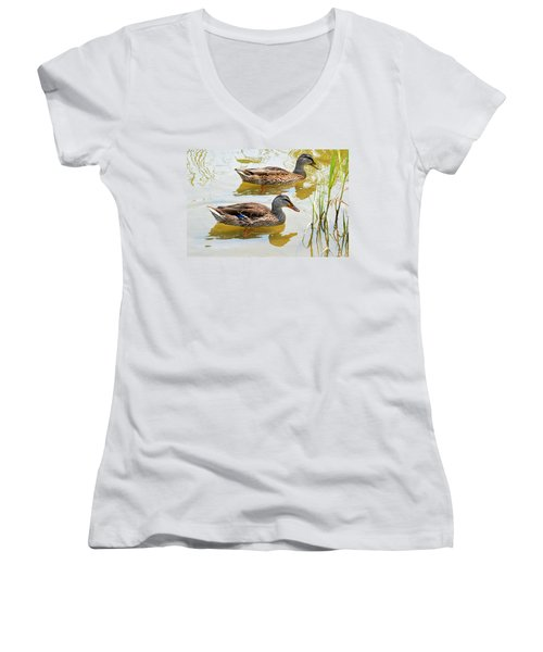 Mallards Women's V-Neck