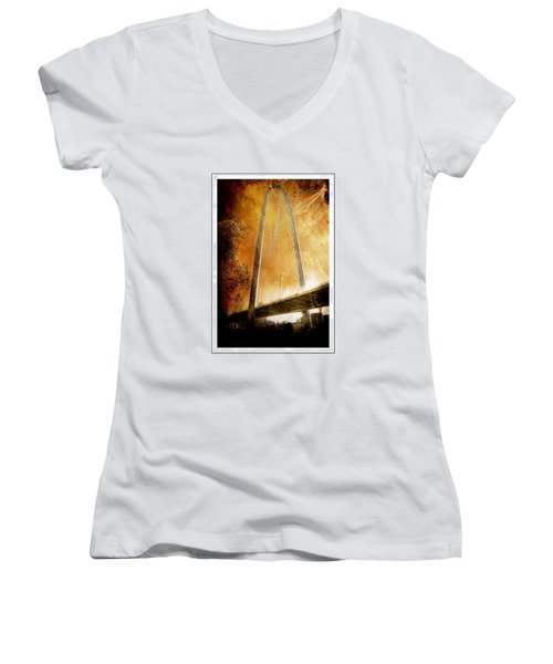 Margaret Hunt Hill Bridge Dallas Texas Women's V-Neck (Athletic Fit)