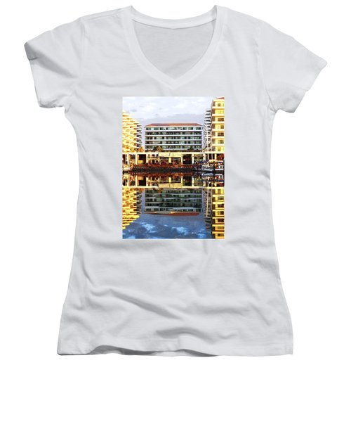 Marina Mazatlan Mirror Women's V-Neck T-Shirt