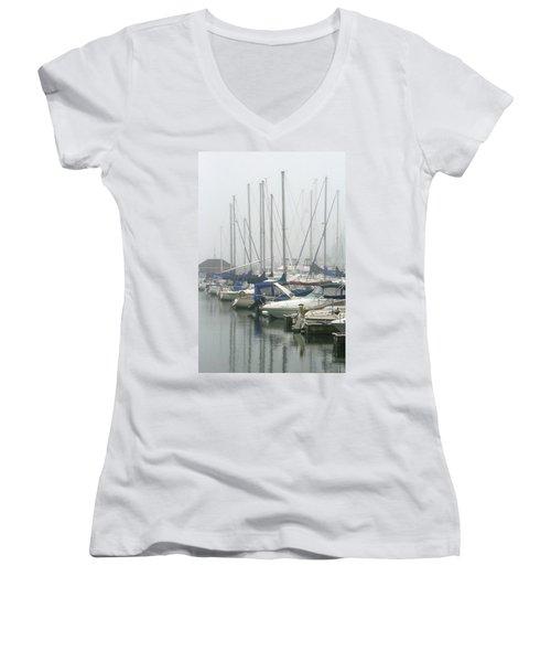 Marina Reflections Women's V-Neck T-Shirt (Junior Cut) by Kay Novy