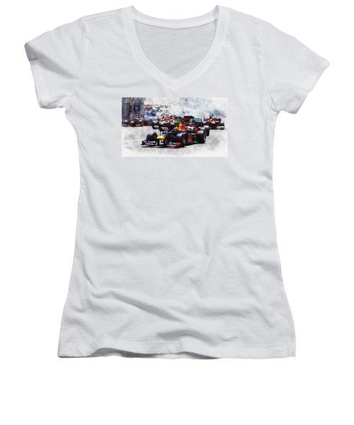 Mark Webber Women's V-Neck T-Shirt