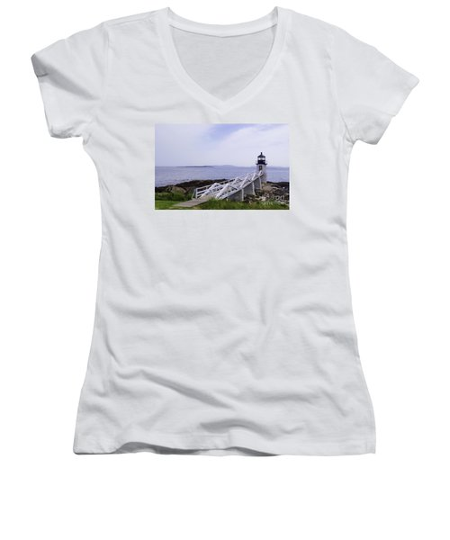 Marshall Point Light 1 Stylized Women's V-Neck T-Shirt