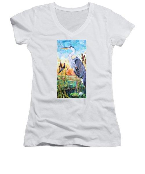 Marshland Moring Women's V-Neck T-Shirt