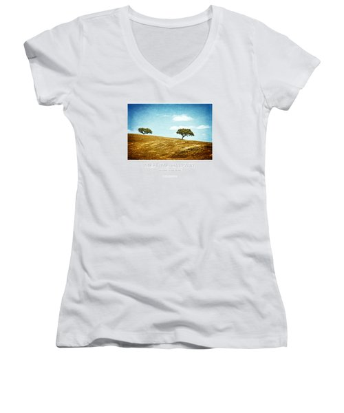 Meet Me Halfway - Poster Women's V-Neck T-Shirt (Junior Cut) by Mary Machare