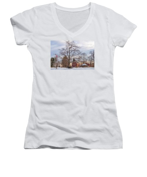 Meetinghouse Hill Women's V-Neck (Athletic Fit)