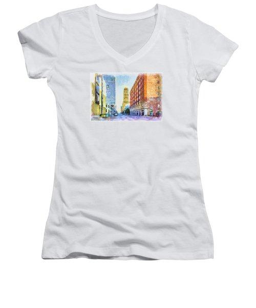 Memphis City Street Women's V-Neck T-Shirt