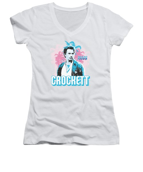 Miami Vice - Crockett Women's V-Neck (Athletic Fit)
