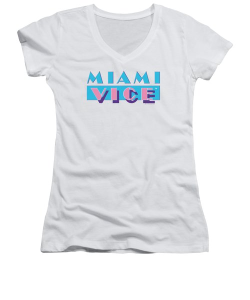 Miami Vice - Logo Women's V-Neck (Athletic Fit)