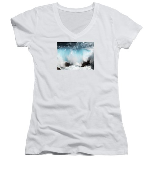 Might And Power Women's V-Neck T-Shirt (Junior Cut) by Patricia Griffin Brett