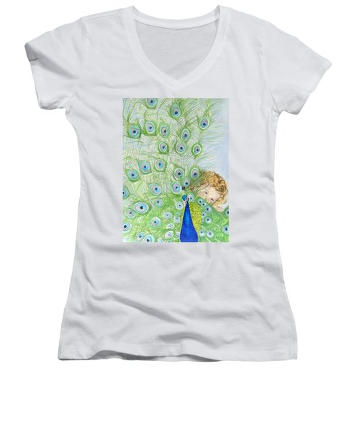 Mika And Peacock Women's V-Neck T-Shirt