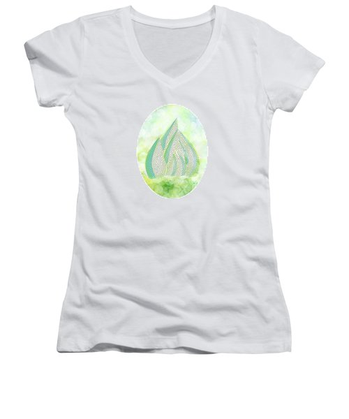 Mini Forest Illustration Women's V-Neck T-Shirt (Junior Cut) by Lenny Carter