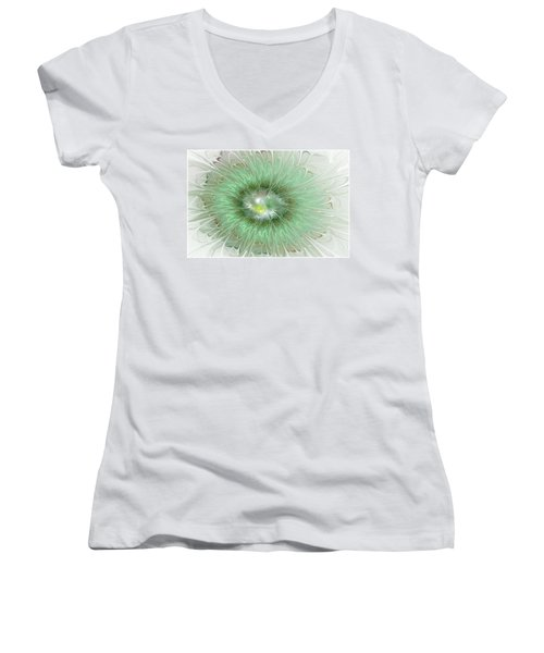 Mint Green Women's V-Neck T-Shirt